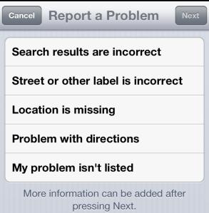 report a problem 2