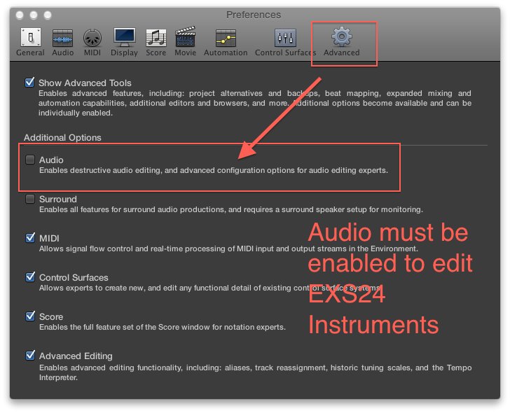 audio must be enabled