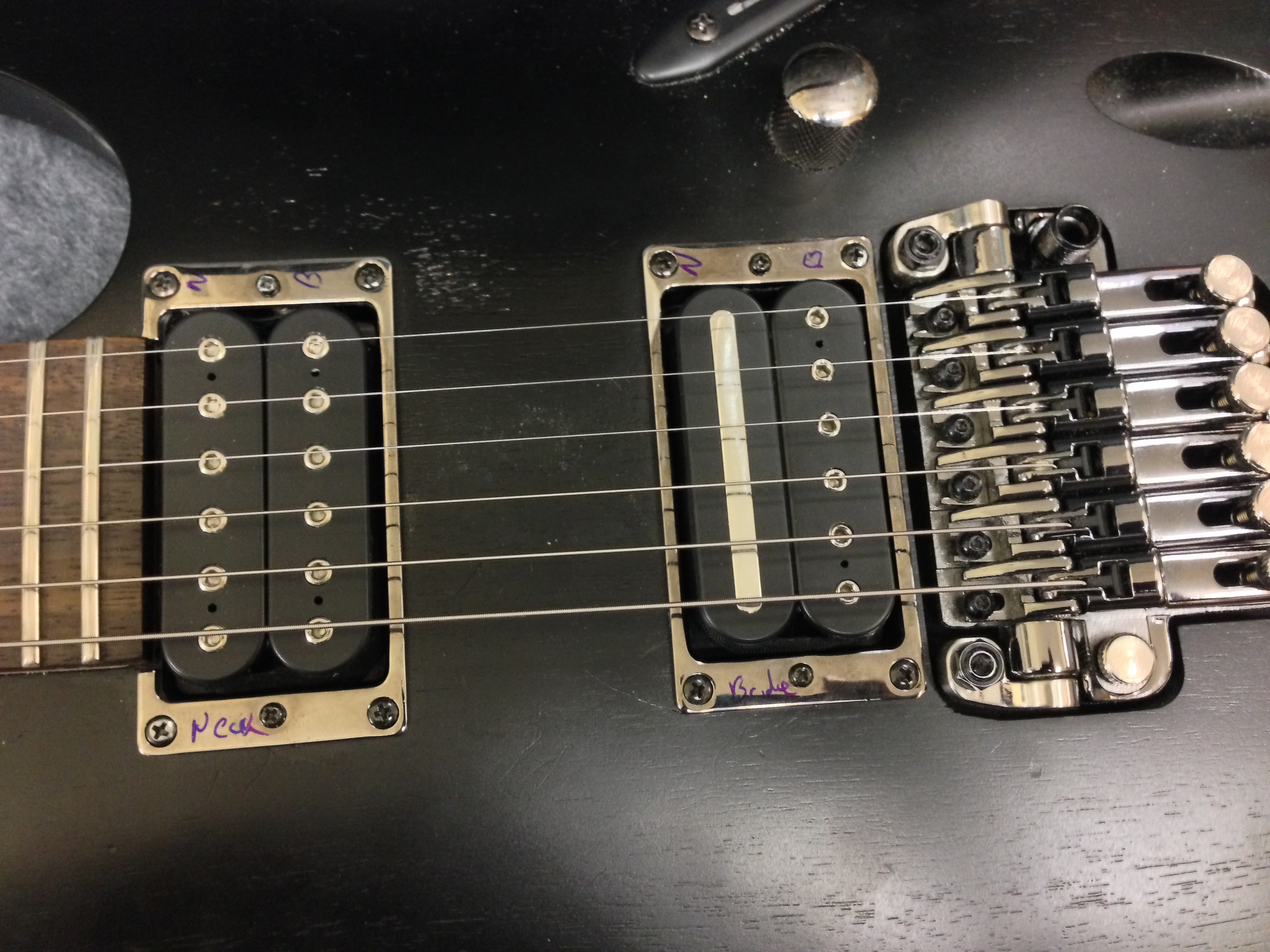 Changing The Pickups In An Ibanez S420 Guitar Inability To Pick Up Wiring Schematics Dimarzio