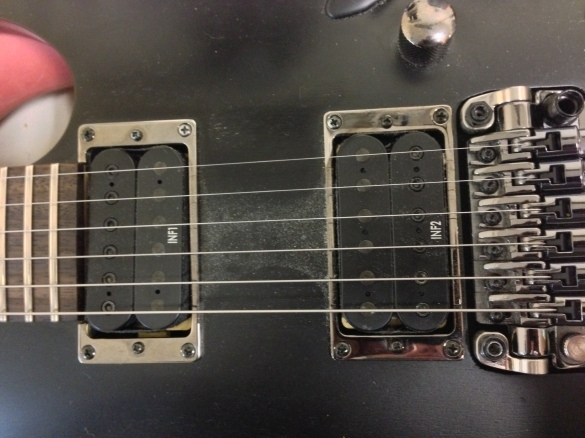 Original Pickups in Cavity
